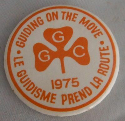 1975 Girl Guides Guiding On The Move Pinback