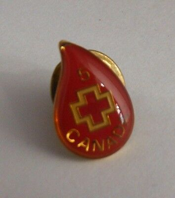 Canada Red Cross 5 Year Blood Drop Pin
