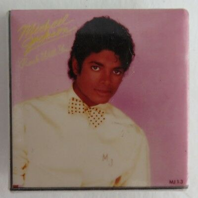 Michael Jackson Rock With You Square Pin Pinback Button   (Inv2012)
