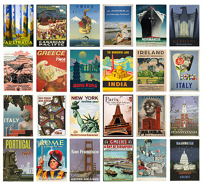 Rare Vintage Retro Travel Holiday A4 A3 Posters Collection 2 Buy 1 Get 2 Free