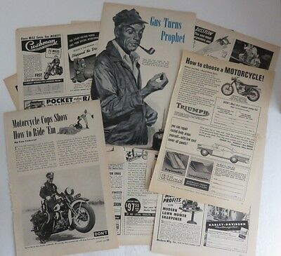 (15) 1960's MOTORCYCLE MAGAZINE ADS                  (INV6917)