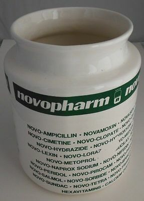 Novopharm Ceramic Pharmaceutical Advertising Jar