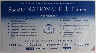 Vintage French National Trust Society Blotter Trade Card    (Inv2707)