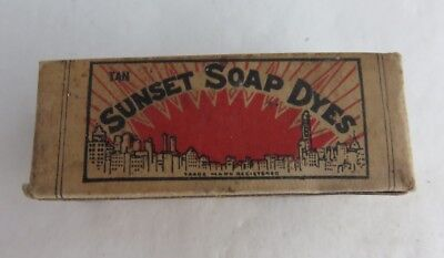 Vintage Sunset Soap Dyes Box And Contents      (Inv2764)