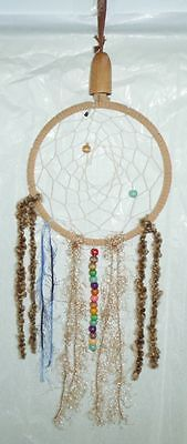 17 Inch Long Dream Catcher Hand Crafted With Wooden Bead Work