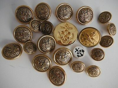 Large Assortment Of Plastic Military Naval Buttons