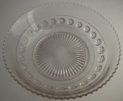 Vintage Davidson Registered #533040 Clear Glass Bowl