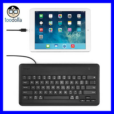 KENSINGTON Wired Keyboard for iPad, Lightning Connector, for schools/business
