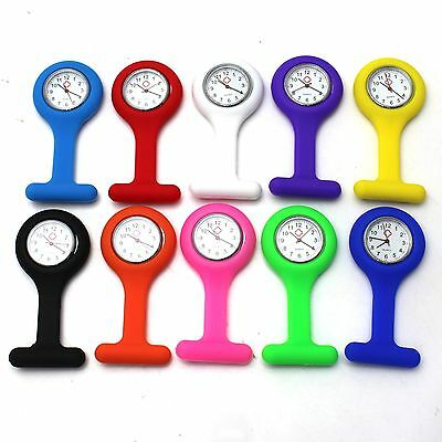 Popular Style Silicone Case Nurse Medical Doctor Pocket Brooch Tunic Fob Watch