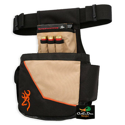 New Browning Cimmaron Ii Shell Pouch Orange And Tan With Buckmark Logo
