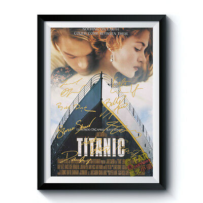 TITANIC Casts Signed Poster A4 Reprint Classic Movie Autographed Fan Gift 001001