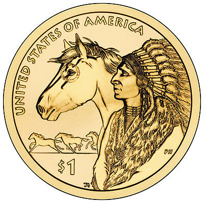 2012 P $1 Native American - Spread of the Horse