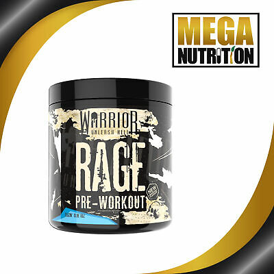 Warrior Rage Pre Workout Powder 45 Servings | High Strength | Muscle Energy Pump