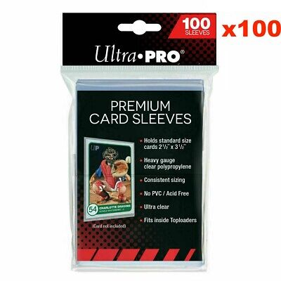 Ultra PRO Platinum Premium Card Sleeves Case Box 100 x Packs of 100 Pokemon AFL