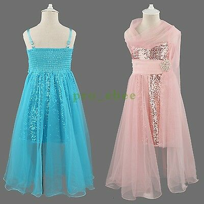 Girls Flower Formal Chiffon Bridesmaid Party Princess Wedding Christening Dress