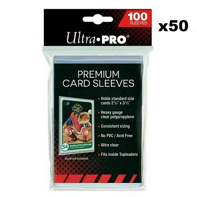 Ultra PRO Platinum Premium Card Sleeves Protector 50 x Packs of 100 Pokemon AFL