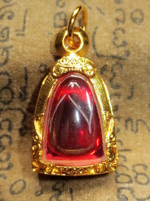 So Rare Magic Blessed Lotus Shape Naga Eye Stone Luck Protective Power Amulets