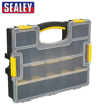 Sealey Spare Parts Storage Organiser Carry Case Removable Compartments APAS15A