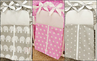 Baby Cot  Nappy Stacker Bag Napkin 100% Cotton!