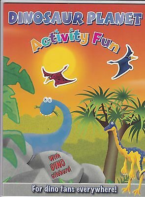 Dinosaur Planet Activity Book with stickers  - NEW