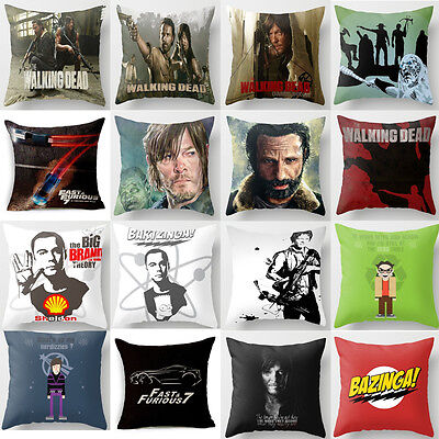 The Walking Dead&Fast&Furious Polyester Pillow Cover Throw Pillow Cushion Cover