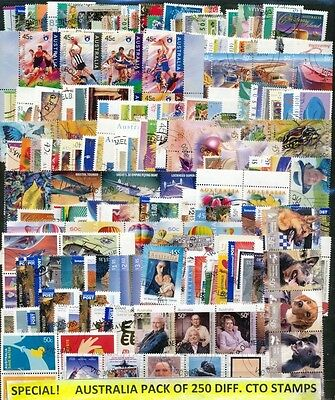 Australia Pack Of 250 Different Cancelled To Order Stamps-Some Complete Sets