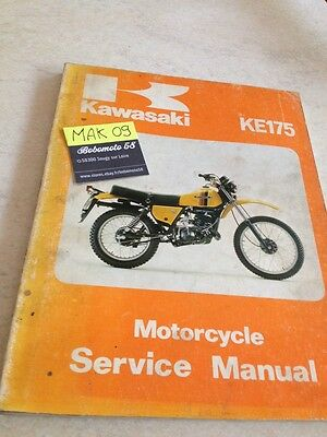 Kawasaki KE175 D1 KE 175 revue moto technique workshop service Manuel