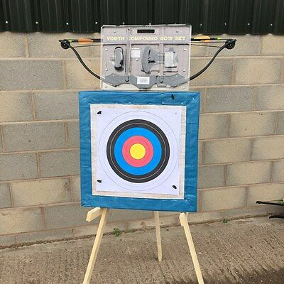 20lb High Powered Adult Compound bow 60x60 straw wooden stand 20 free target