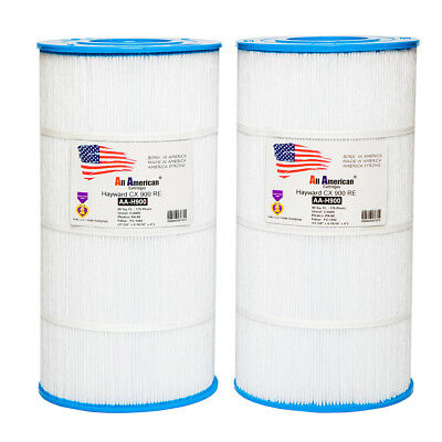 2X ALL AMERICAN Hayward Star-Clear Plus C-900 CX900-RE Filter Cartridge C-8409