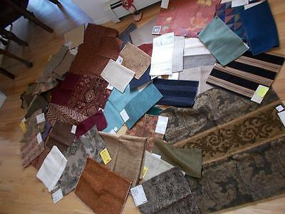 Lot 56 HIGH END UPHOLSTERY FABRIC samples Kravet Asstd sizes 11# CHENILLE VELVET