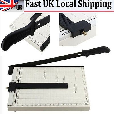 A4 Black Office Home Arts Guillotine Paper Photo Card Cutter Trimmer Heavy Duty