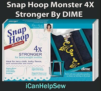 Snap Hoop Monster Magnetic Embroidery Hoop 120x120mm HM1 for Viking Husqvarna