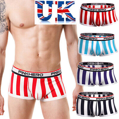 Mens Sexy Pink Hero Striped Boxers **4 Colours**Medium or Large**UK Seller**