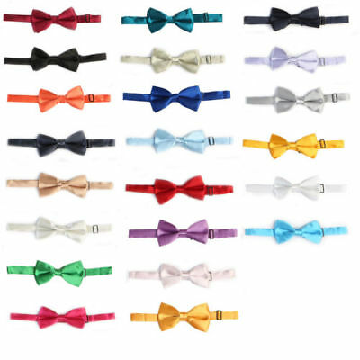Wholesale Bow Tie Boys Girls  Kids Solid Formal Wedding 12 Piece Lot Mixed Color