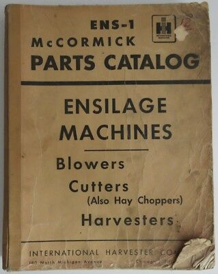 VINTAGE McCORMICK PARTS CATALOG ENSILAGE MACHINES BLOWERS CUTTERS   (INV1092)