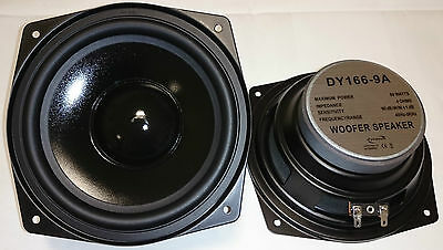 "2x DY-166-9A Dynavox 16cm 6,5"" Bass Speaker 165mm Subwoofer 4Ohm PAAR"