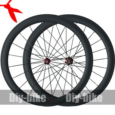 50mm Clincher Racing Carbon Wheels 700C Carbon Road Bike Bicycle Wheelset