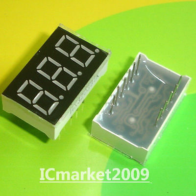 10 PCS 3 Digit 0.36 inch RED NUMERIC LED DISPLAY COMMON CATHODE 3 Bit LD-3361AS