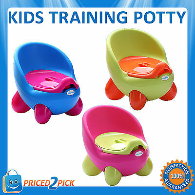Kids Childrens 2 in 1 Baby Toddlers Toilet Training Potty Seat Trainer Chair