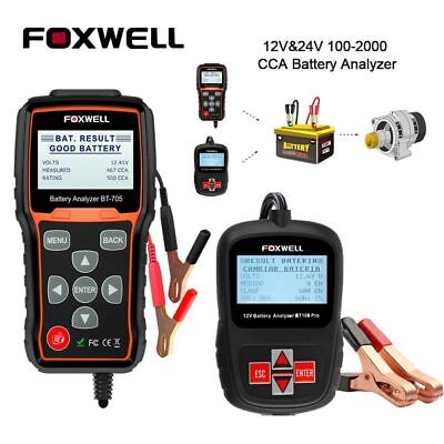 12V 24V Car Battery System Diagnostic Analyzer Tester Tool+Printer Foxwell BT705