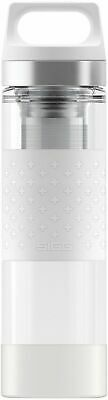 Sigg - Hot & Cold Glass WMB White - 0.4L - NEW Drink Bottle - FREE UK Delivery
