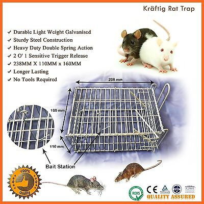 Rat Trap Mouse Mice Humane Rodent Wire Cage Safe Live Catching Pest Control Mesh