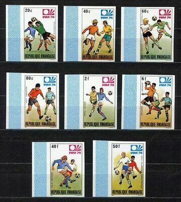 s5226) RWANDA 1974 MNH** World Cup Football - CM Calcio 8v IMPERF.