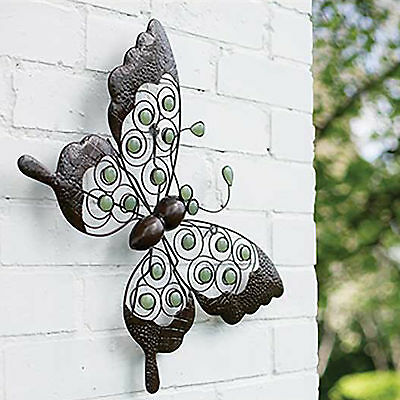 Glow Butterfly Wall Art - glow in the dark, metal, garden, decoration