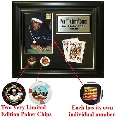 """Paul """"The Truth"""" Darden Limited Edition Collectible Plaque 14 x 12 Inches"""