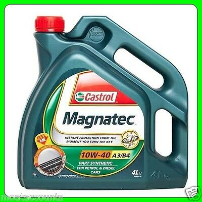 Castrol Magnatec 10w40 Part / Semi Synthetic Engine Oil 4L A3/B4 [151B20]
