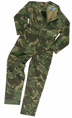 Kids Boys Girls Army Camo Camouflage Overall Boilersuit | Coverall