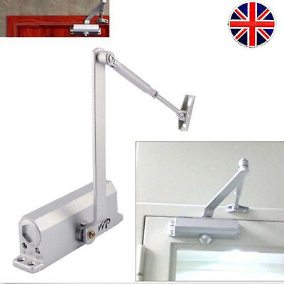 Adjustable 25-80KG Heavy Duty FIRE RATED Overhead Door Opener Closer Automatic