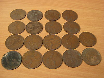 17 pre 1940 +1 x 1891 coin old pennys,various years coins,fast free post,cheap