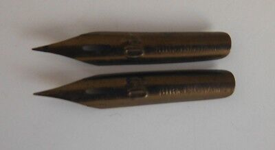 (2) A. MURCOTT No. 40 BIRMINGHAM FOUNTAIN PEN NIBS